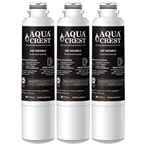 AQUACREST NSF 401 Replacement DA29-00020B Certified to Reduce 99% of Lead, Pharmaceuticals and More, Compatible with Samsung DA29-00020B, HAF-CIN/EXP Refrigerator Water Filter (Pack of 3)