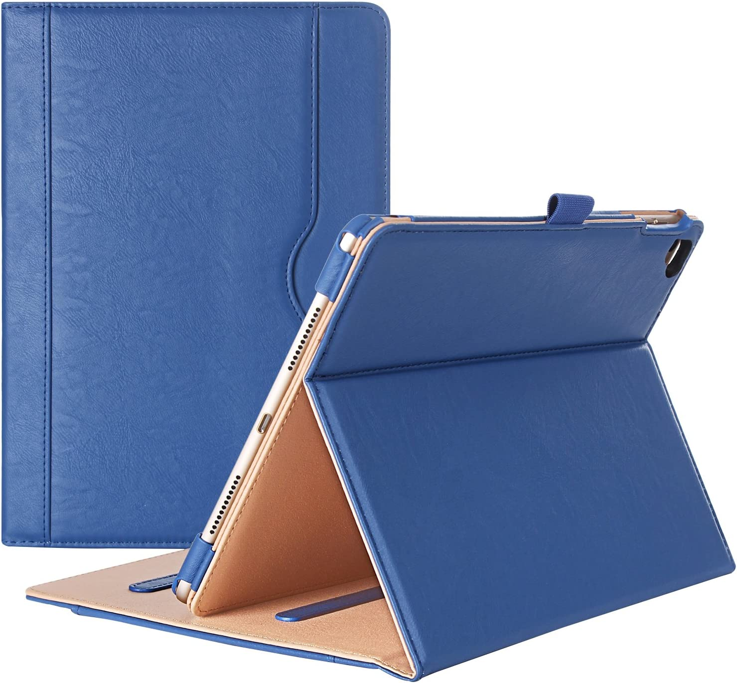 iPad Pro 9.7 Case - ProCase Stand Folio Case Cover for Apple iPad Pro 9.7 Inch 2016, with Multiple Viewing Angles, Document Card Pocket (Navy Blue)