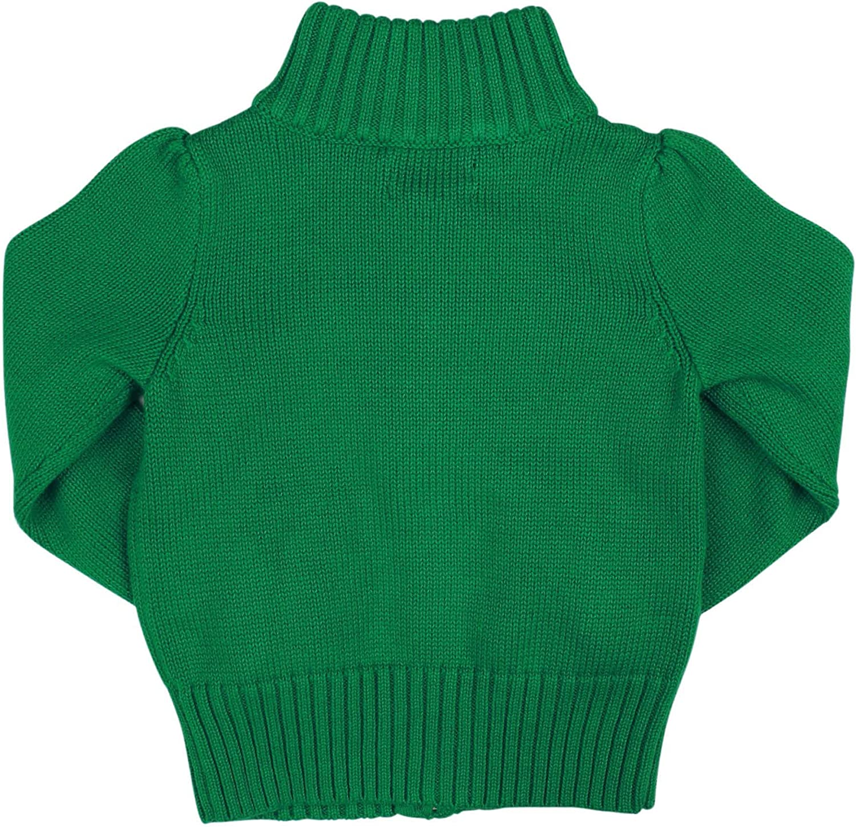 Ralph Lauren Polo Girls Big Pony Full Zip Cardigan Sweater