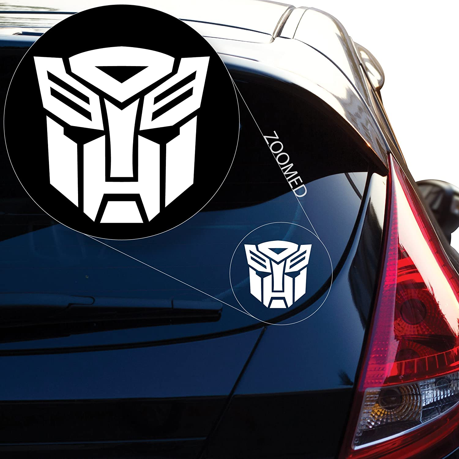 Laptop and More # 544 6 x 6, Red # 544 Yoonek Graphics Autobot inspired Transformer Decal Sticker for Car Window 6 x 6 Laptop and More