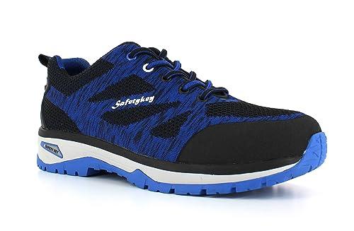 Foxter - Zapatos Deportivos de Seguridad   Zapatillas de Trabajo para Hombre   Ligeros y Transpirables   Safetykey : Comodos   S1P SRC HRO: Amazon.es: ...