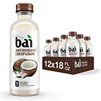 Bai Coconut Flavored Water, Molokai Coconut, Antioxidant Infused Drinks, 18 Fluid...