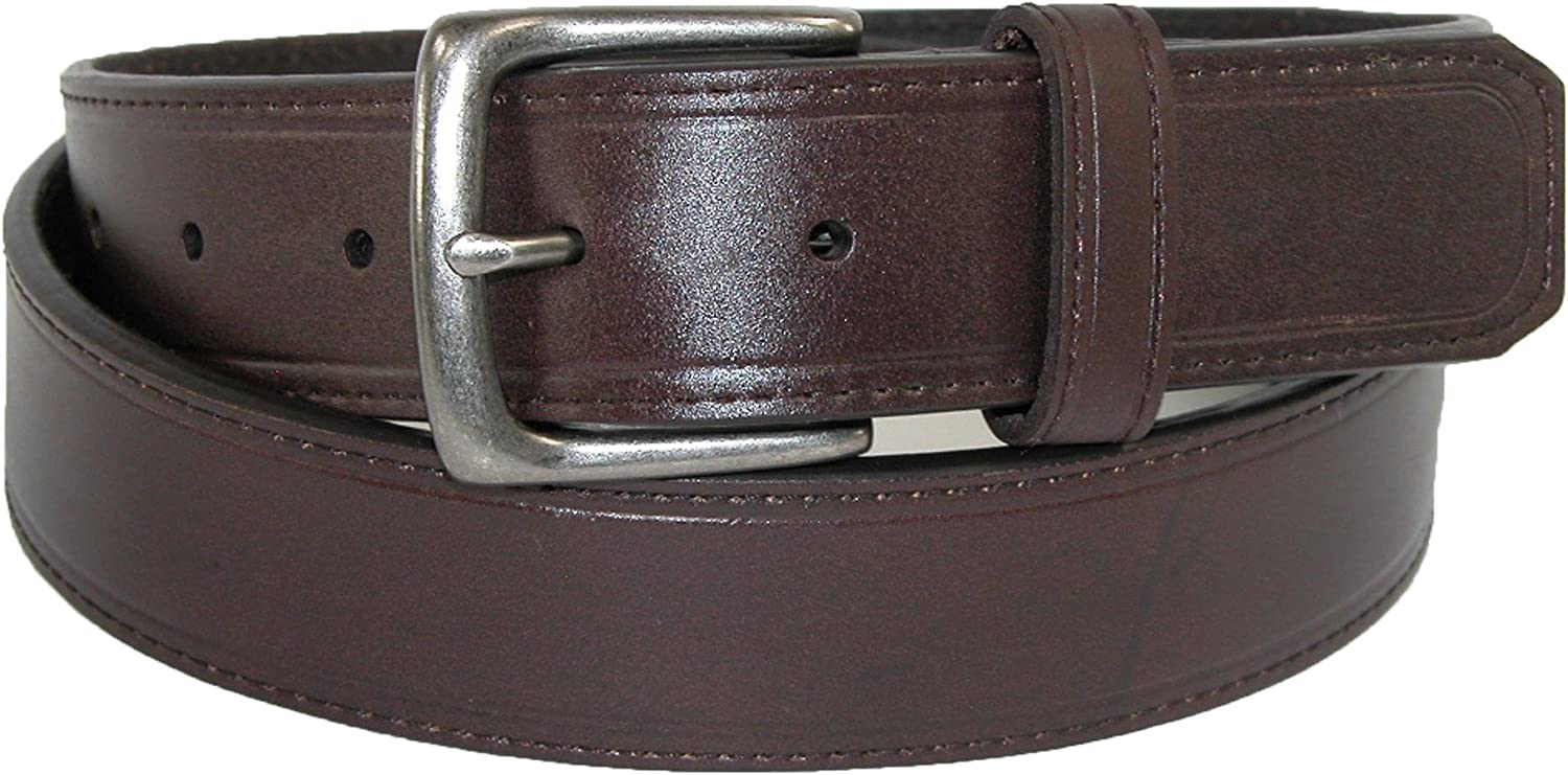 34 Brown Sharp Mens Leather 1 1//4 Inch Casual Security Money Belt