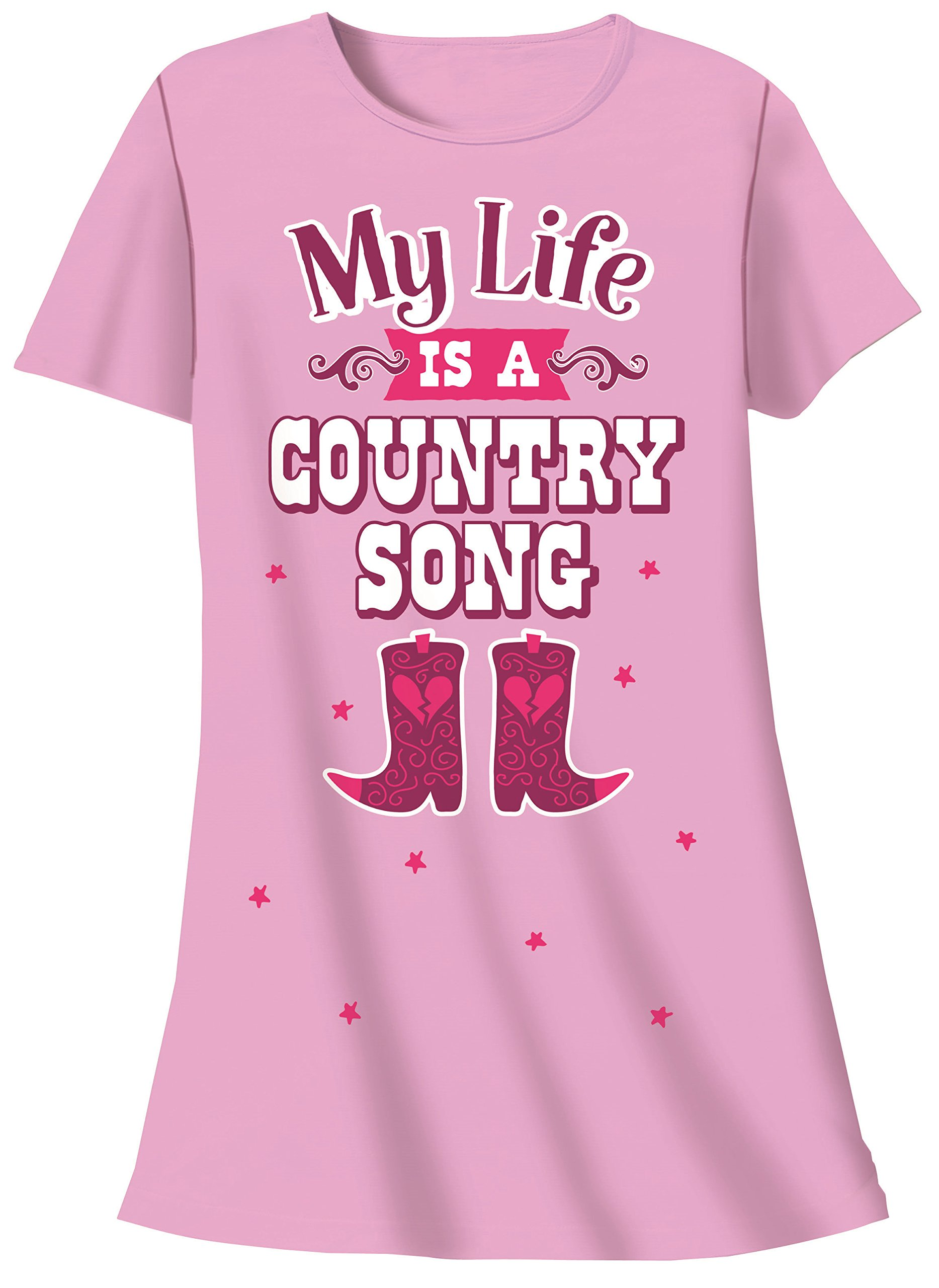 Nightshirt - My Life is Country Song Cowboy Boots, One Size