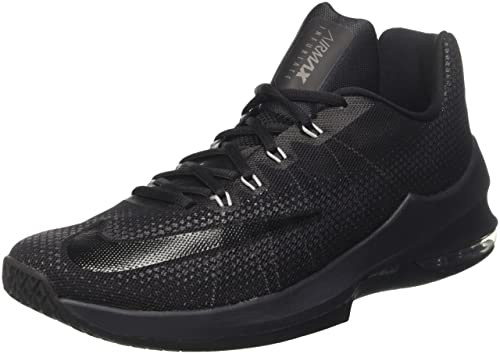 online retailer 70b84 01d8d Nike Men s Air Max Infuriate Low Black Anthracite Dark Grey Basketball Shoe  -11