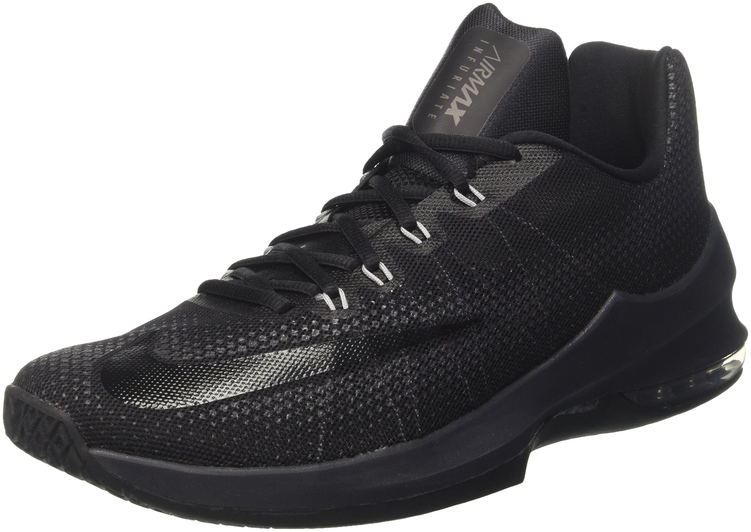 timeless design caacc 729fc Galleon - NIKE Men s Air Max Infuriate Low Basketball Shoe Black Anthracite Dark  Grey Size 11 M US