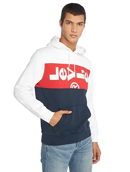 a70751edb9b Levi's® Men Hoodies Tab Panel Oversized: Amazon.co.uk: Clothing