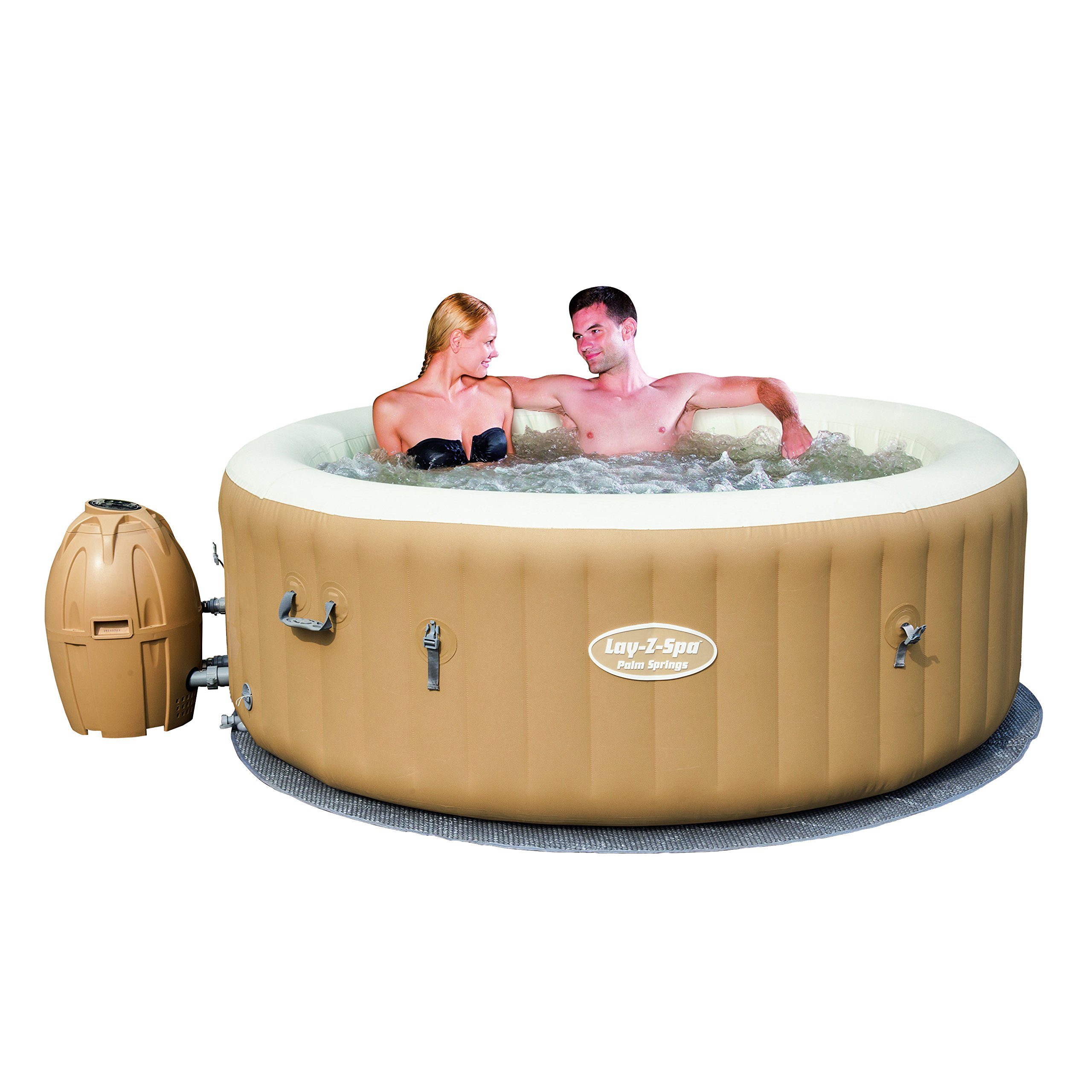 SaluSpa Palm Springs AirJet Inflatable 6-Person Hot Tub Free ...