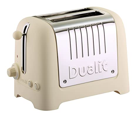 Amazon Dualit Lite Soft Touch 2 Slice Toaster Cream
