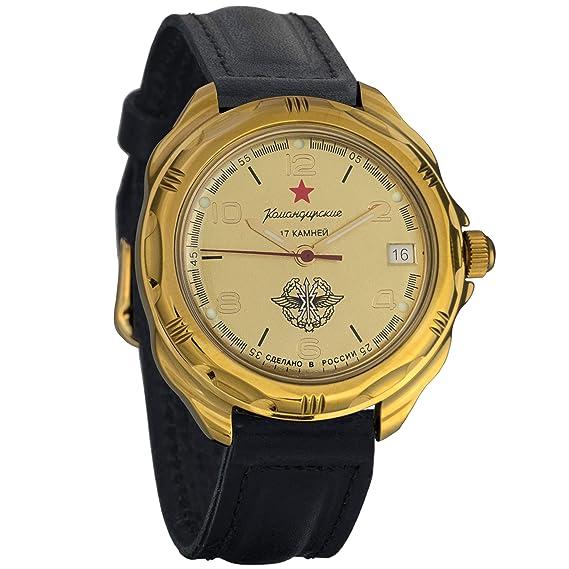 Vostok Komandirskie 2415 219451 Ruso Militar reloj mecánico: Amazon.es: Relojes