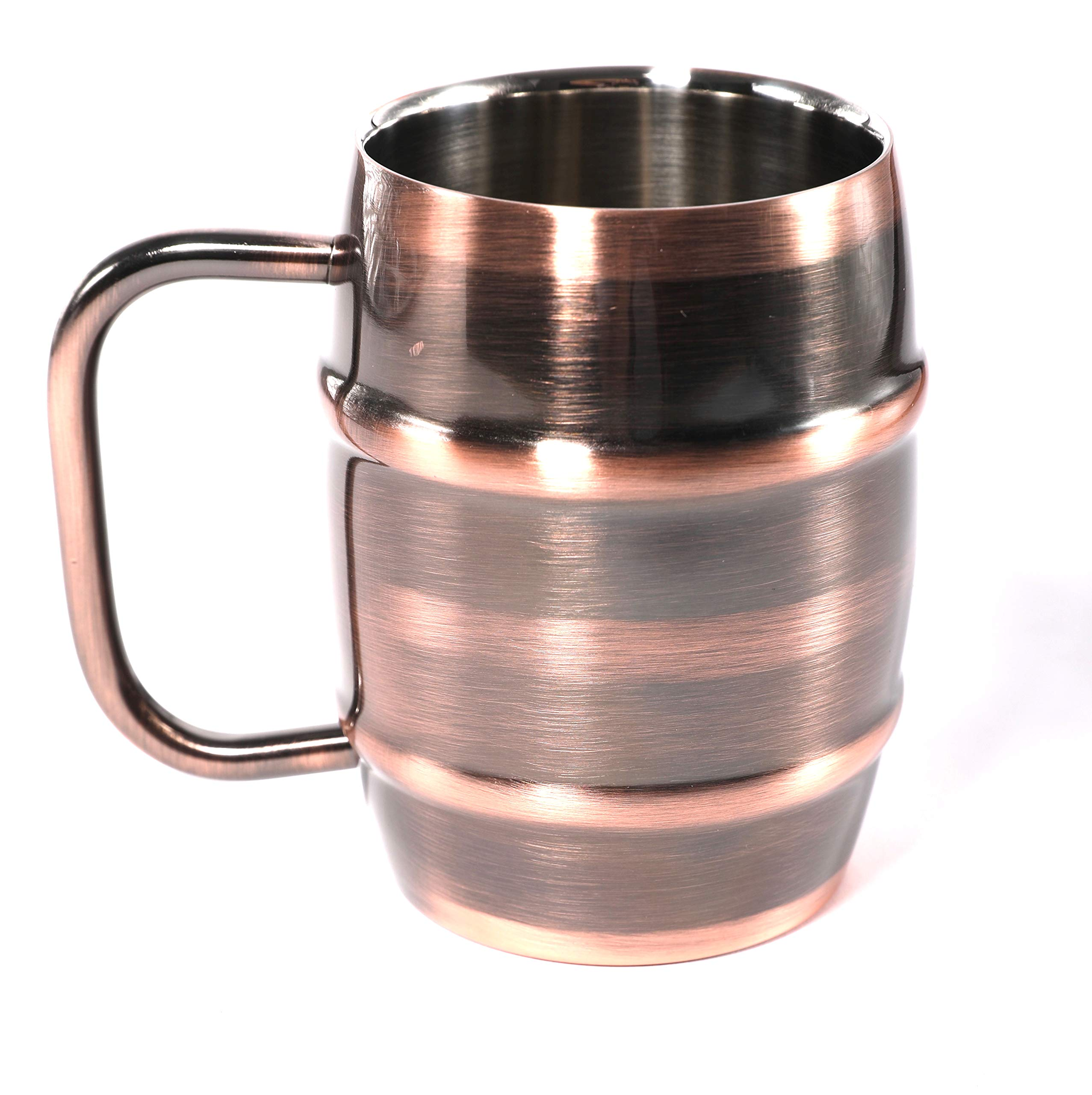ANVENTI Double Wall Stainless Steel Vacuum Insulated Coffee Mug (Copper) 400ml 14oz 2PCS/CASE