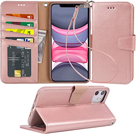Amazon.com: Arae - Funda tipo cartera para iPhone 11 (piel ...