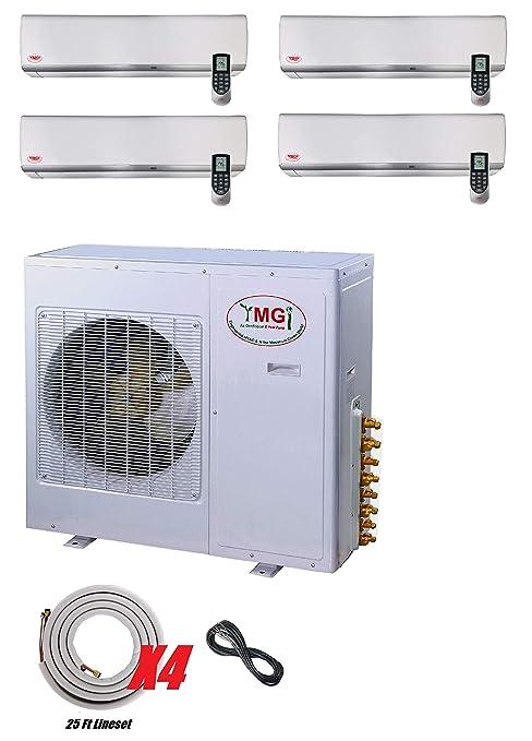 Amazon.com: YMGI 42000 BTU 4 Zone - Aire acondicionado sin ...