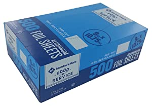 "An Item of Member's Mark Foil Sheets, 9"" x 10.75"" (500 ct.) - Pack of 1 - Bulk Disc"