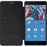 Nillkin Qin Series Royal Leather Flip Case Cover Case For Oneplus 3 (Black)