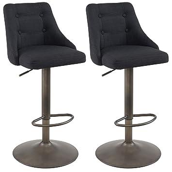 Astounding Amazon Com Mychichome Saelle Set Of 2 Fabric Upholstery Ibusinesslaw Wood Chair Design Ideas Ibusinesslaworg
