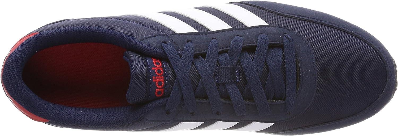 adidas V Racer 2.0, Chaussures de Gymnastique Homme Bleu Collegiate Navy Ftwr White Scarlet
