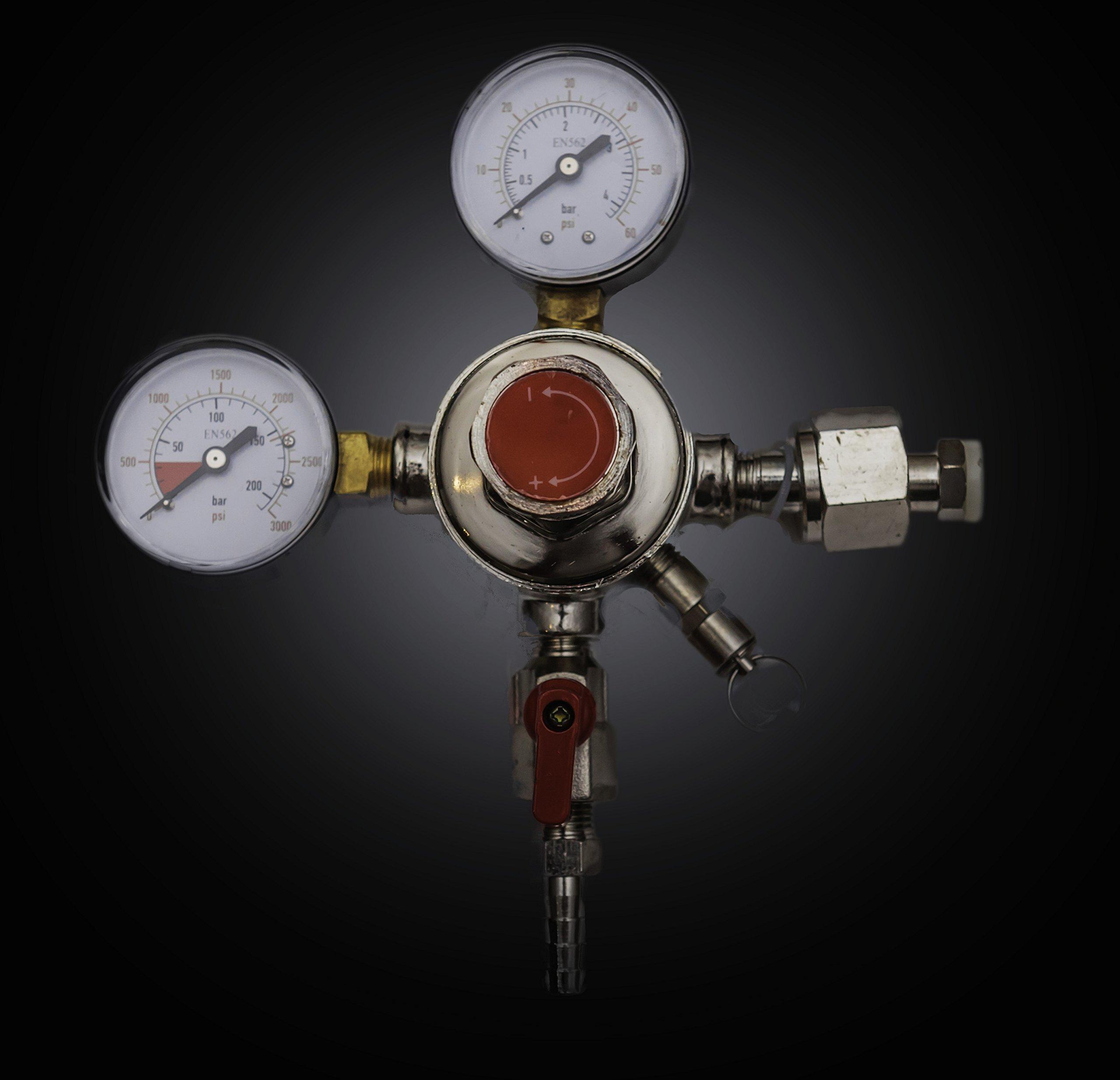 Brewin Dual Gauge Co2 Draft Beer Dispensing Regulator by Brewin