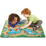 Melissa & Doug Prehistoric Playground Dinosaur Activity Rug (39 X 36