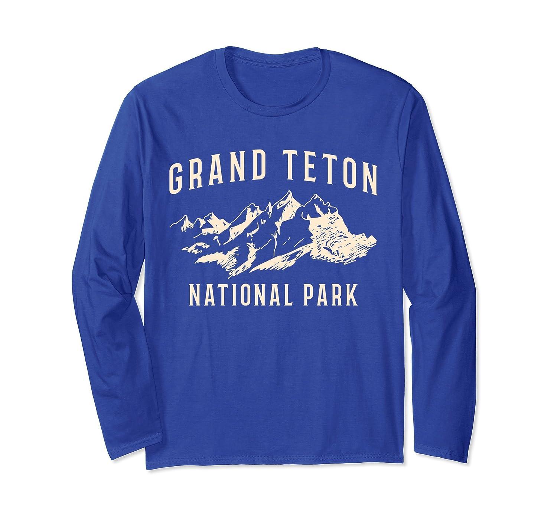 Grand Teton National Park Long Sleeve Shirt -Outdoor Camping-AZP