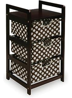 Badger Basket Three Drawer Hamper/Storage Unit, Espresso/Brown
