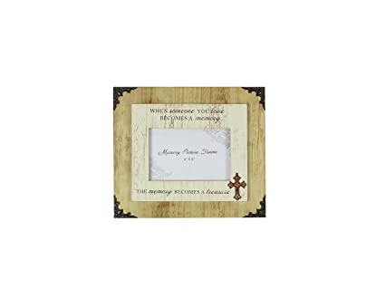 Amazon.com - Young\'s Wood Memorial 4 x 6 Picture Frame, 10.5\