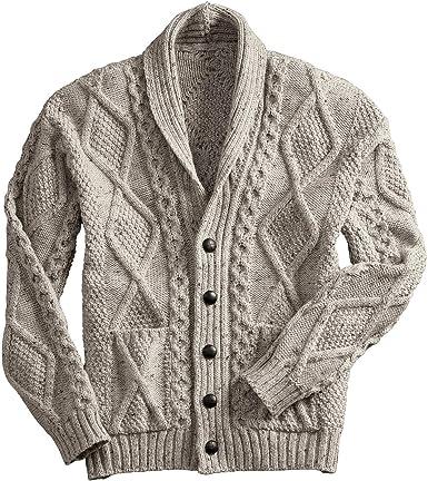 Westend Knitwear - Cárdigan - para hombre Beige marrón claro Medium: Amazon.es: Ropa y accesorios