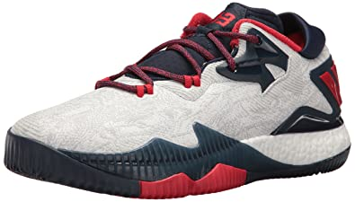 buy popular 96ffd 3cb36 ... size 19 black yellow white 5065f a51f9  czech adidas mens crazylight  boost low 2016 basketball shoe white light scarlet collegiate navy 9c2b1  6602a