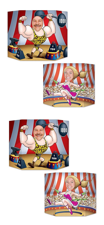Beistle S57975AZ2 3 1 x 25 2 Piece Circus Couple Photo Props