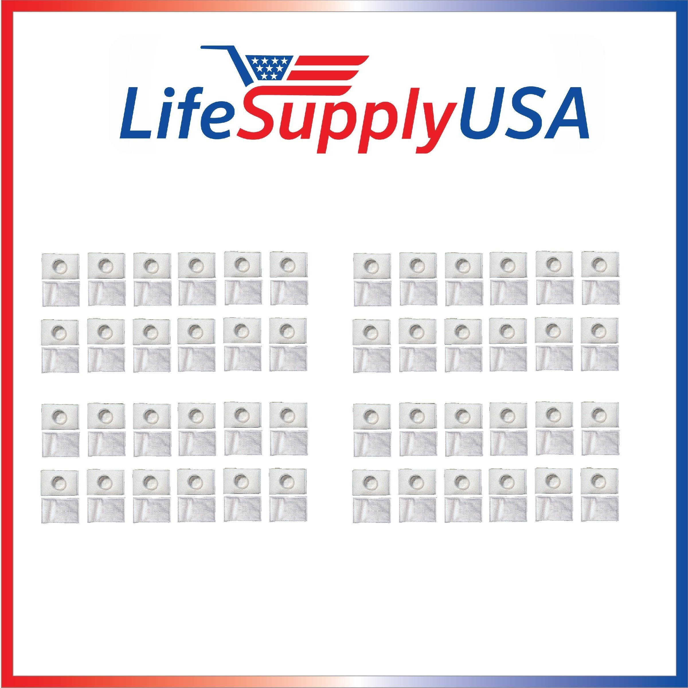 LifeSupplyUSA 96 Pack Filter for Electrolux Aerus Canister Vacuum Hepa Micro electrostatic Filter LE 2100, Ap100, Diplomat, Ambassador, Epic 6500, Full Kit, 200 350 622 10, 079