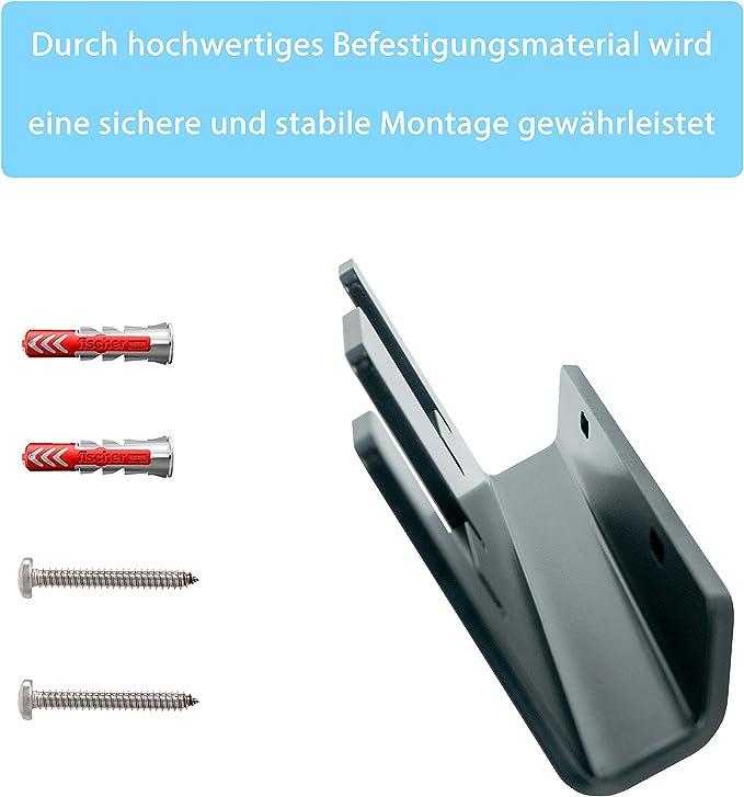 Eds Premium Wandhalterung Aus Aluminium Für Bosch Akkus 2 Fach Akkuhalter Pulverbeschichtet Inkl Befestigungsmaterial Made In Germany Aluminium Bosch Baumarkt