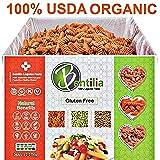 BENTILIA | Organic Gluten Free Red Lentil Pasta | Allergen Free Low Glycemic Index, High Protein, High Fiber Leguma Pasta | Organic Red Rotini, Non-GMO, 100% Natural Healthy Pasta | 5 lb Bulk Case |