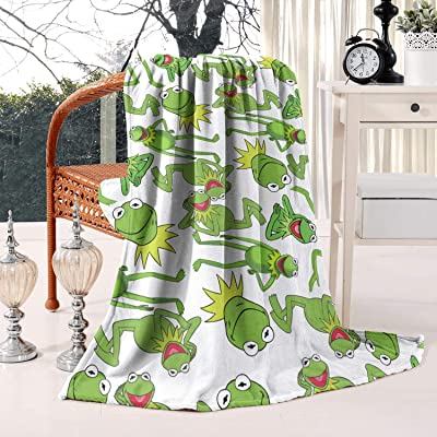 coolgood Soft Fleece Kermit The Frog Muppet Children's Furry Toys Blanket-59¡±x79¡± All Season Blanket for Bed Couch Chair: Home & Kitchen