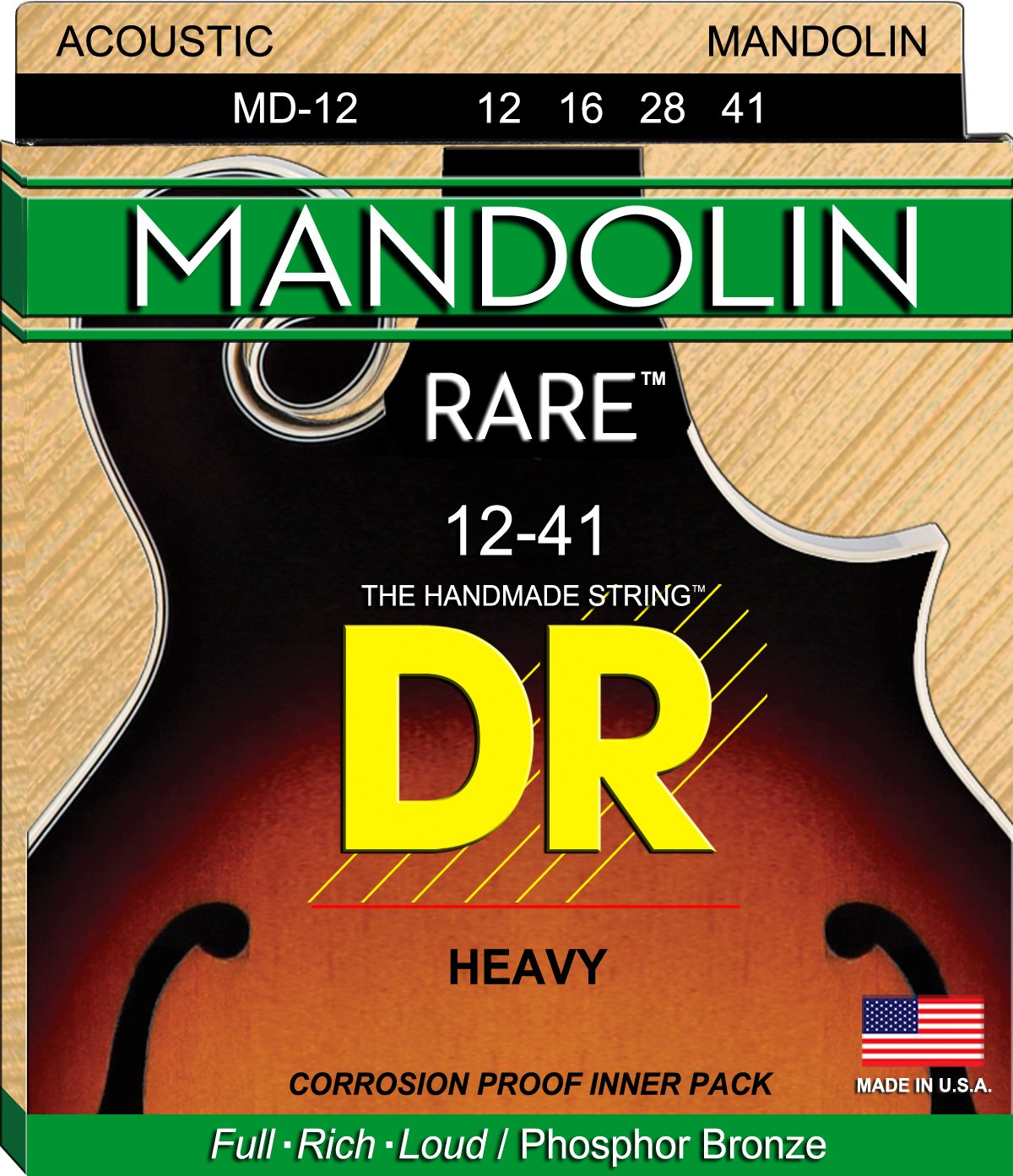 DR Strings Mandolin-12, 16, 28, 41 MD-12