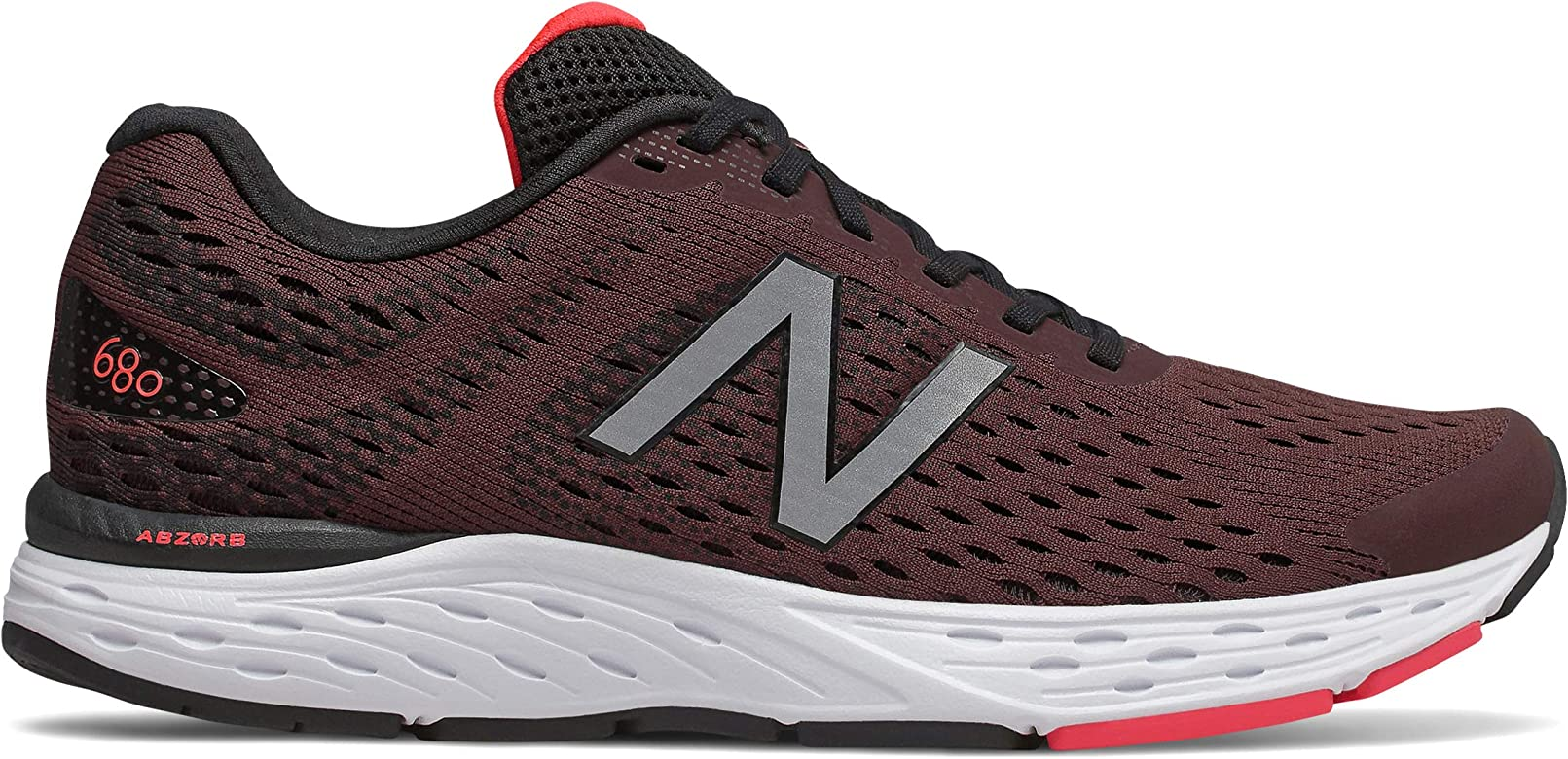 New Balance M680CH6 - Zapatillas de running (extra anchas, ancho 4E, color burdeo), color Rojo, talla 41.5 EU: Amazon.es: Zapatos y complementos