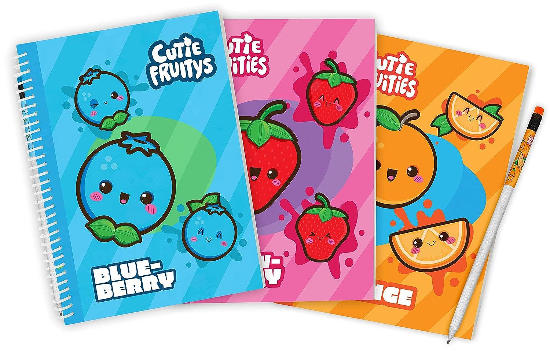 Scentco Sketch /& Sniff Sketchbooks 8.3 x 5.8 Orange 3-Pack Strawberry - Blueberry