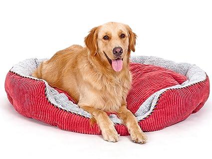 PLS Pet Snugg Bolster Pet Bed, Dog Bed, Completely Washable, Easy-Clean,  Modern Design, Durable