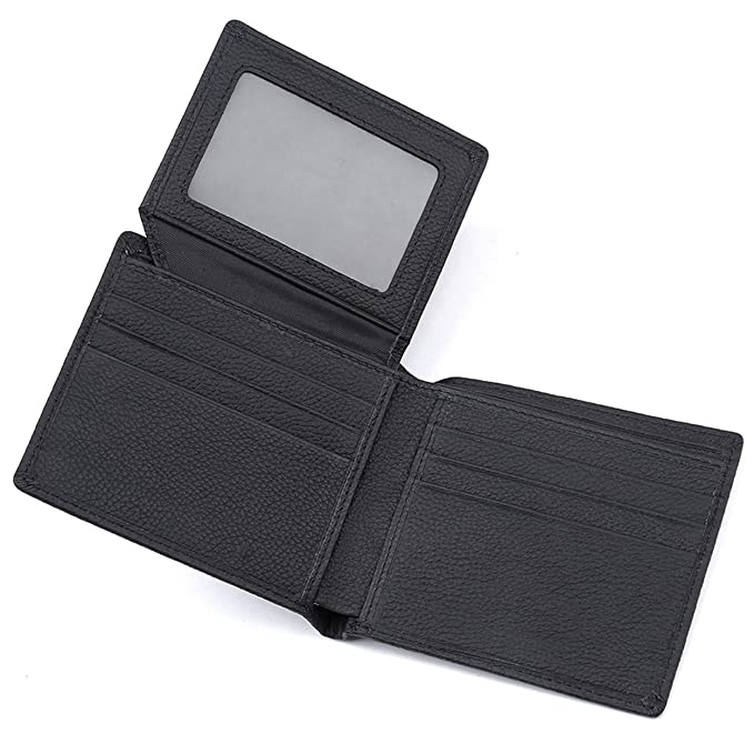 2f3f882e93b2 RFID Trifold Leather wallet,Gift for Men,Multi Card Extra Capacity Travel  Wallet