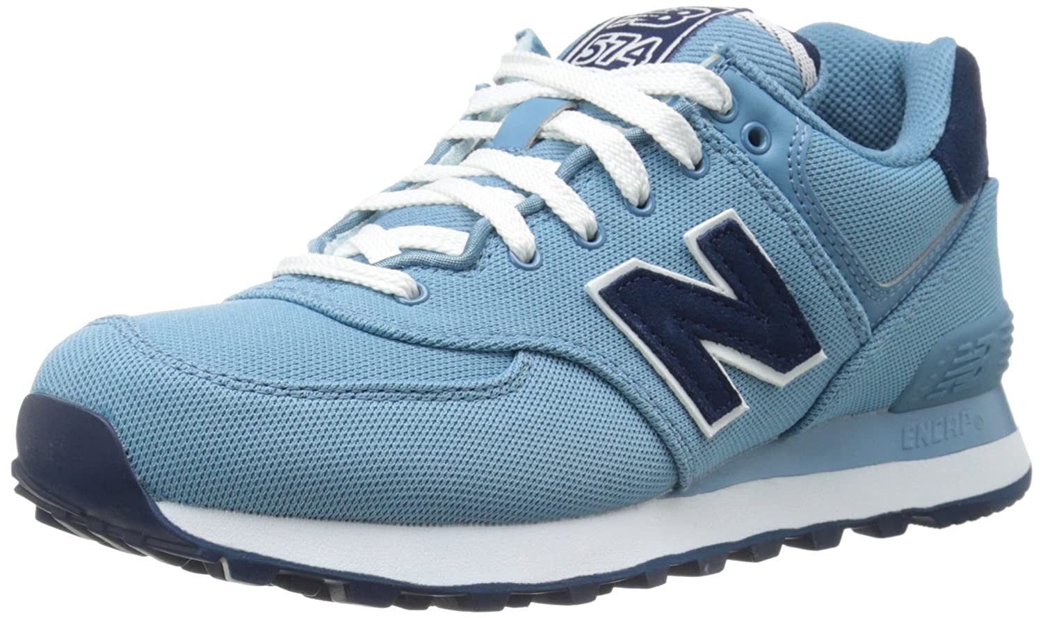 New Balance Mujer WL574 Pique Polo Collection Running Shoe, Blue ...