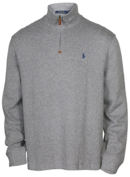 Ralph Lauren Polo Men's Big & Tall French Rib Half Zip