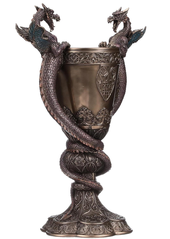 Design Toscano Shadowcrested Tomb Guardians Dragon Chalice Decorative Bowls Garden Outdoor