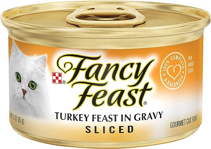 Purina Fancy Feast Gravy Wet Cat Food, Sliced Turkey Feast in Gravy - (24) 3 oz. Cans