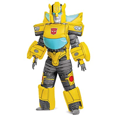 Disguise Transformers Bumblebee Inflatable Boys' Costume, Yellow: Toys & Games
