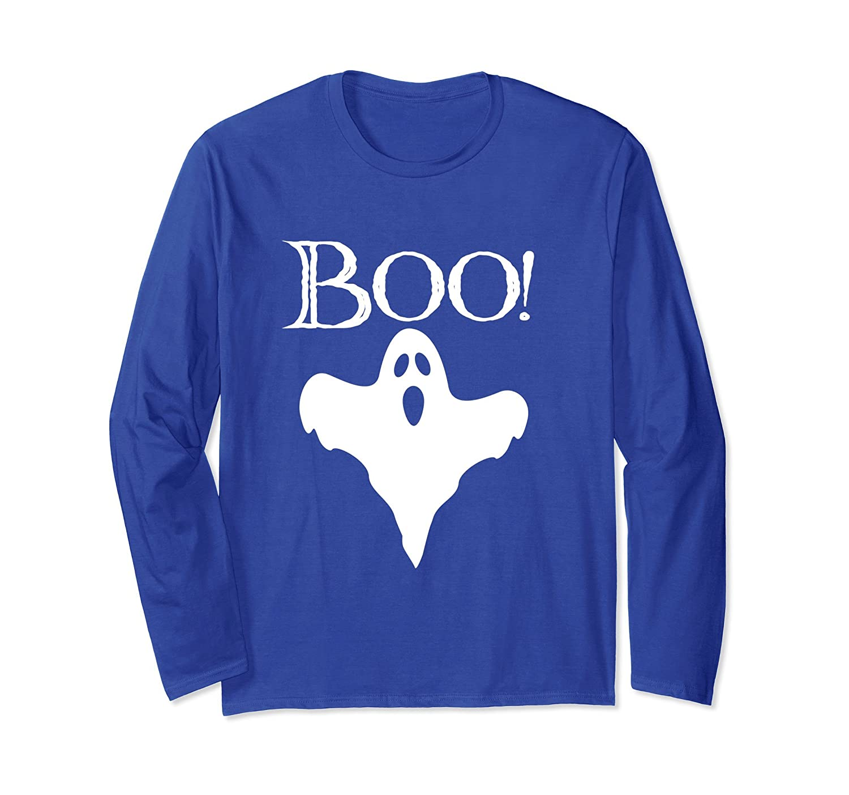 Boo Halloween Costume Ghost Long Sleeve T-Shirt-mt