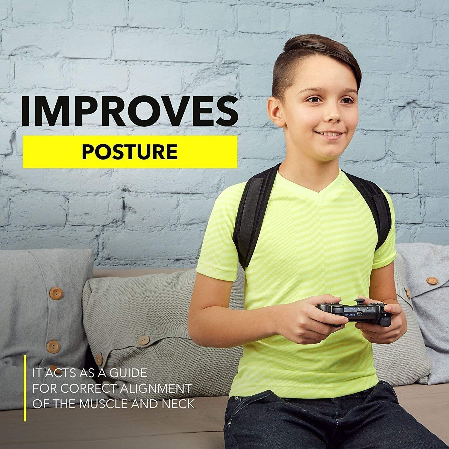 6. PANADY : Best Posture Corrector Back Brace for Teens, Men & Women