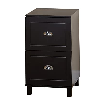 Target Marketing Systems Bradley Collection Modern 2 Drawer Filing Cabinet  With Metal Handles, Black