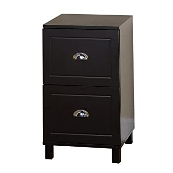 Target Marketing Systems Bradley Collection Modern  Drawer Filing Cabinet With Metal Handles Black