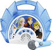 Frozen 2 Sing Along Boombox with Microphone, Built in Music, Flashing Lights, Real Working Mic for Kids Karaoke Machine, Conn