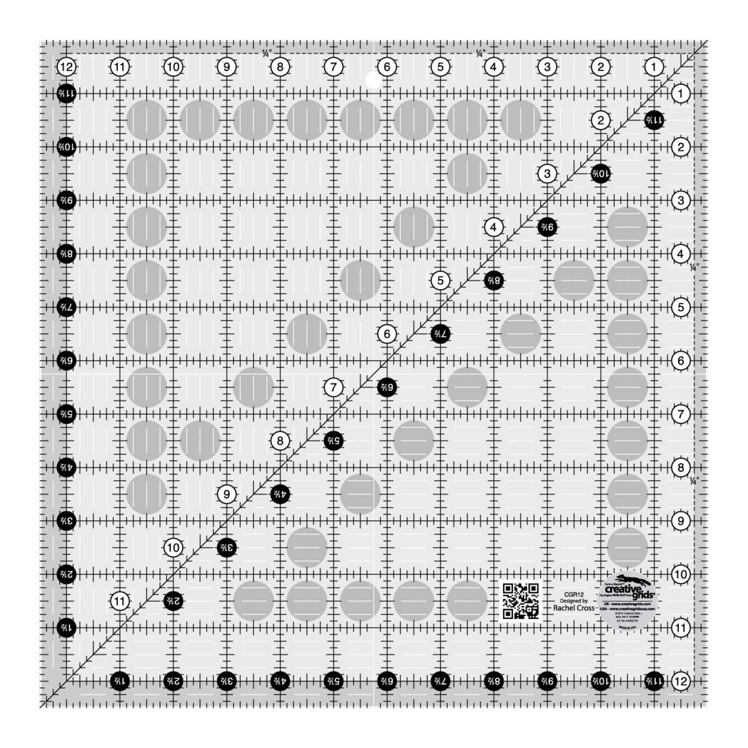 Creative Grids 12.5'' Square Quilting Ruler Template [CGR12] by Creative Grids