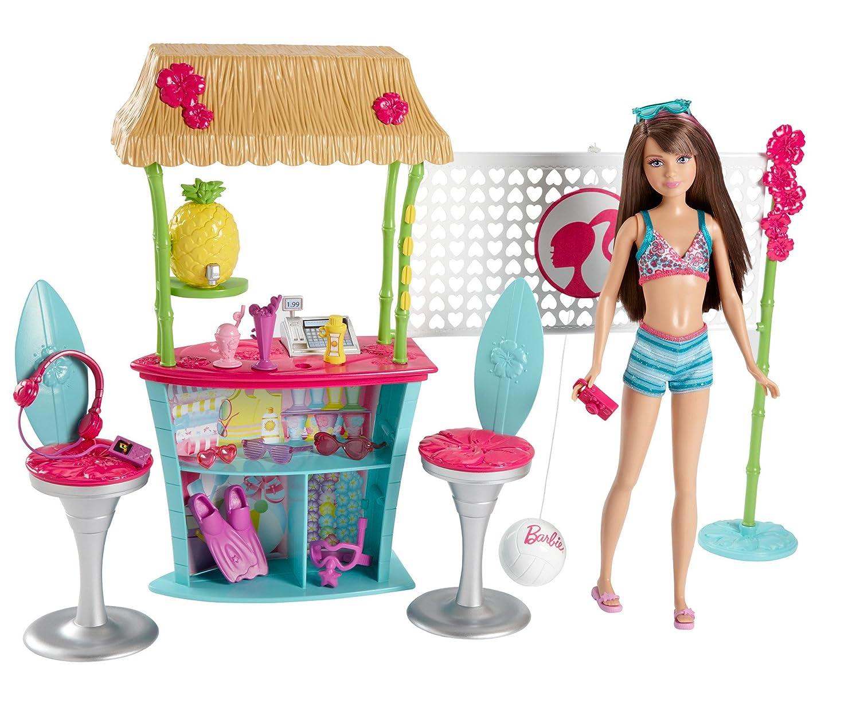 Barbie Sisters Skipper Doll And Tiki Hut Playset Toys